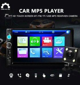7 Дюймов TFT Автомобилей Аудио Стерео Сенсорный Эк