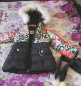 Детская тёплая курточка на девочку