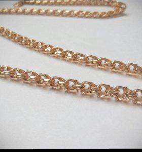 Браслет и цепочка под золото