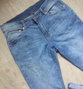 🔹Голубые зауженные джинсы р 44-46🔹