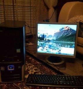 Компьютер, мышь, клавиатура