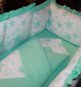 Бортики для детской кроватки!