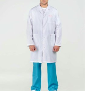 Медицинские женские и мужские халаты.