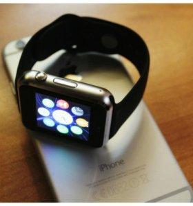 Смарт часы W8 128мб Черные/Black