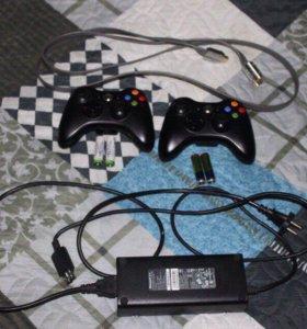 Xbox 360 / 2 беспроводных гейпада / много игр
