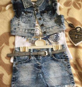 Комплект джинсовый для девочки