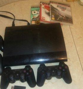 Sony PS 3 не прошит +4 джостика+6 игр+ usb зарядка