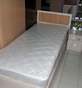 Кровать с матрасом 90х200см.