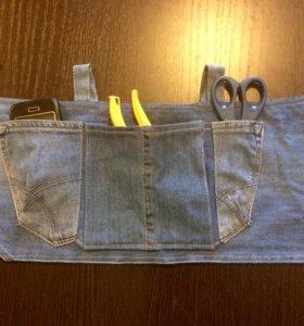 Фартук джинсовый