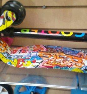 💯👍Самокат детский скутер макси складной