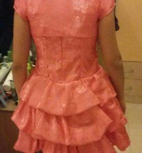 Платье персиковое размер 36
