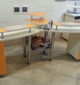 Маникюрный стол фирменный, 2 в 1