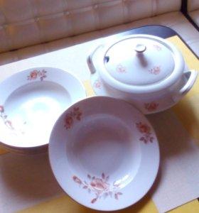 Супница + 6 тарелок