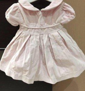 Бархатное платье с пышной юбкой