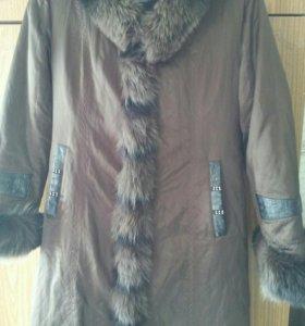 Пальто с зимней подстежкой