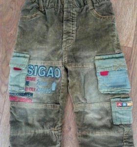 Велюровые штаны на флисе