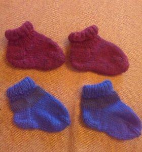 Новые детские вязаные носочки