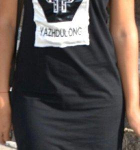 Черный летнее платье