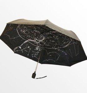 """Зонт женский с автомат.сложением """"Звездное небо""""."""
