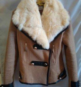 Курточка с мехом кролика