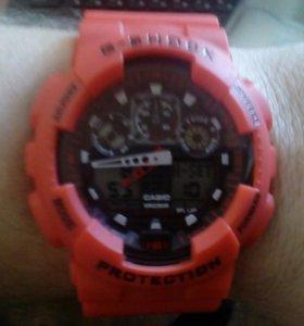 Спортивные часы Джи-Шок красные