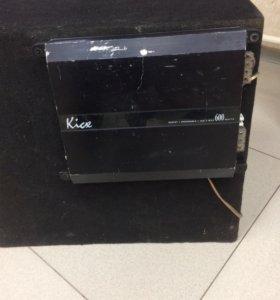 Сабвуфер Sony XS-GTX150 и Автоусилитель kicx