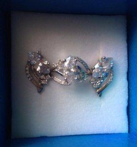 Серёжки и кольцо (серебро)