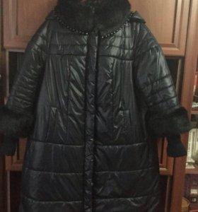 Пальто на синтепоне размер 52/54