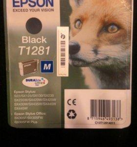 Черный картридж для Epson