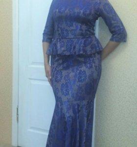 Вечернее платье в пол 46-48 обмен!