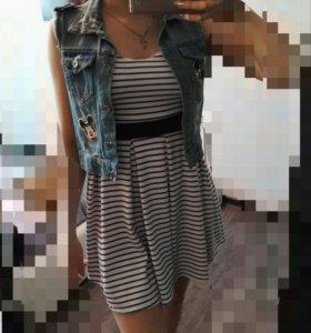 Платье+джинсовка