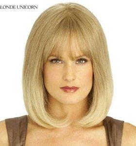 Парик блондинка, натуральные волосы