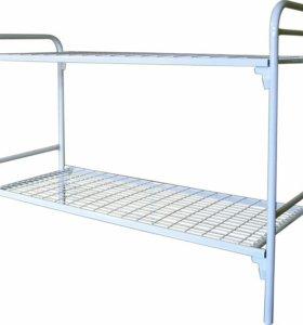 Кровать двухъярусные, металическая