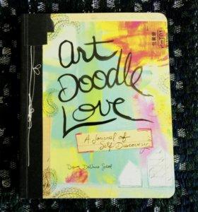 Творческий блокнот, скетчбук Art Doodle Love