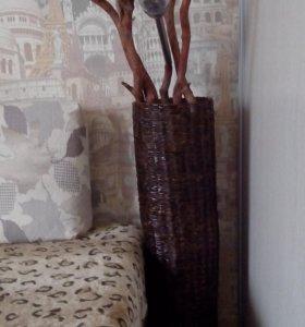 Плетеная ваза ручной работы