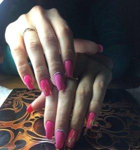Маникюр, гель лак,педикюр, наращивание ногтей