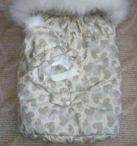 Продам конверт на овчине очень теплый