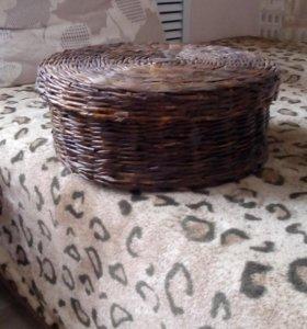 Плетеная коробка ручной работы