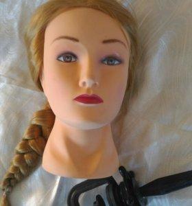 Голова-манекен для причесок, косичек