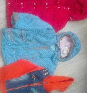 Куртки, пуховики, ветровки