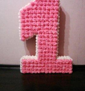 Цифры на день рождения, буквы