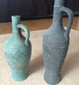 Бутылки-вазы глиняные
