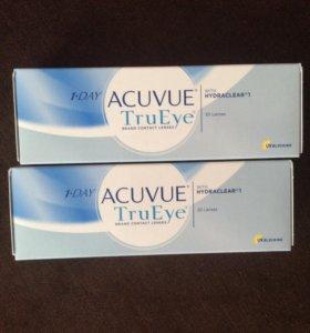 Однодневные линзы Acuvue TruEye на -7.50