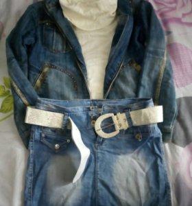 Юбка,джинсовка и джемпер