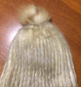Шапка -резинка вязанная норка