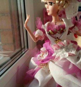 Платье на куклу барби, ручная работа