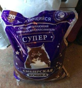 Наполнитель сибирская кошка супер 20кг