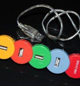 USB разветвитель 4 в 1, рабочий