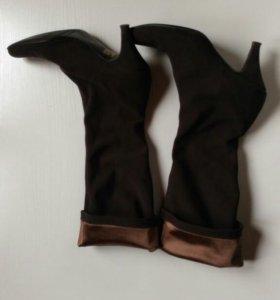 Сапоги-чулки 37 коричневые