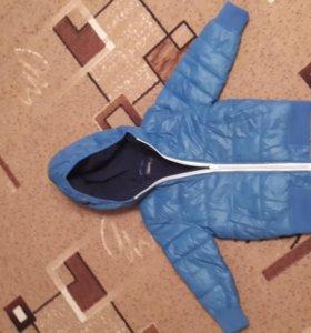 Куртка дутик на флисе